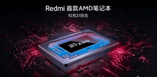 Xiaomi to launch the first AMD Ryzen powered RedmiBook on 21st October