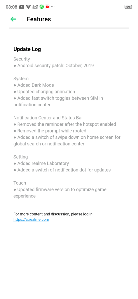 Realme 3 Pro's latest update adds System-wide Dark mode & much more