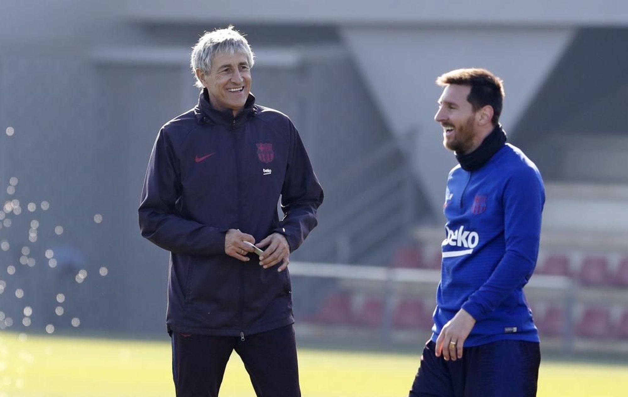 Quique Setién talks about managing Lionel Messi at Barcelona ...