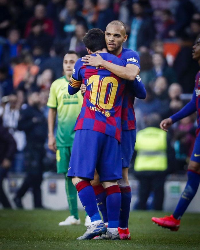 Braithwaite says he won't wash his Barcelona kit after Messi's hug