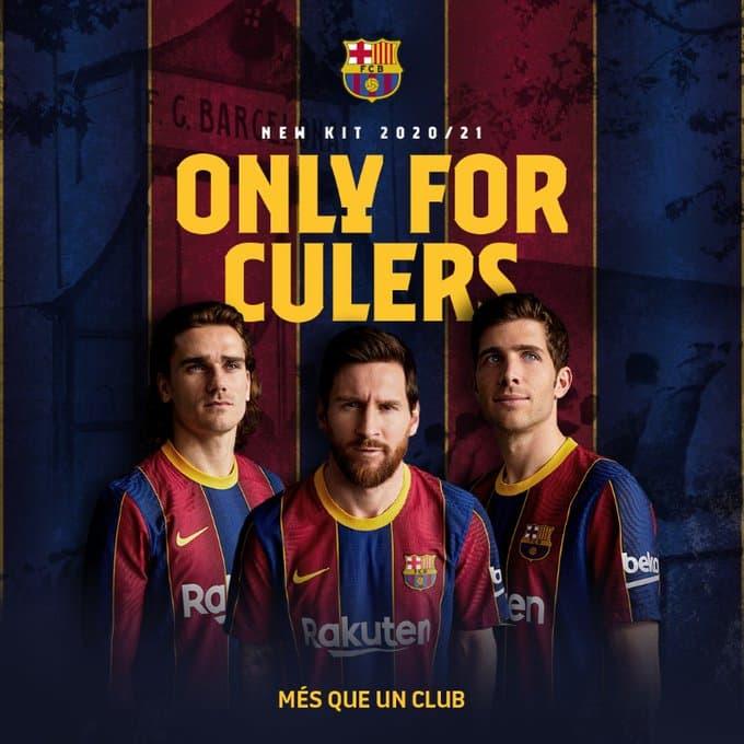 Fc Barcelona Reveals Their 20 21 Home Jersey Technosports