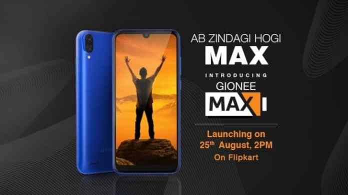 Gionee Max launch date revealed along with the launch date