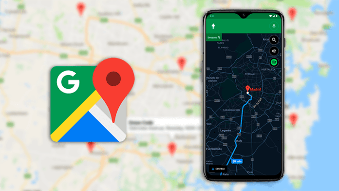 Google Maps starts receiving Dark Mode