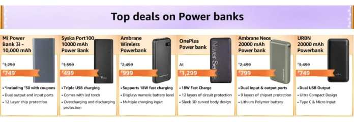Best Deals on Power Banks in this Amazon Great Indian Festival 2020