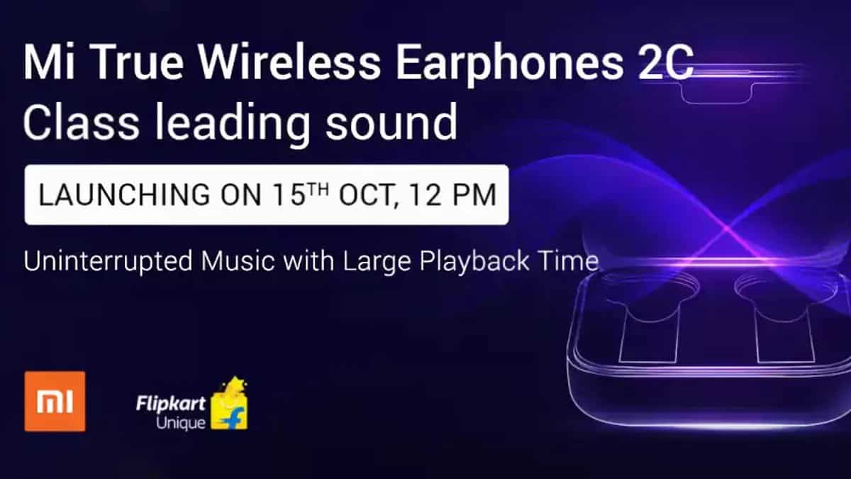 Xiaomi Mi True Wireless Earphones 2C launch in India on Oct 15