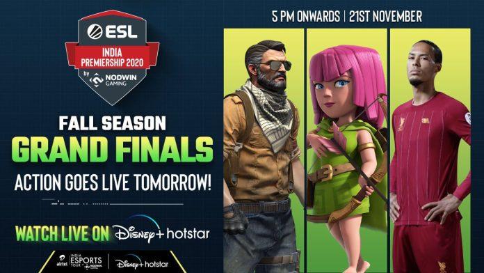 NODWIN Gaming's fall ESL India Premiership finale to Livestream on Disney+Hotstar From November 21-23, 2020