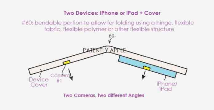 Apple files patent for a foldable device with multiple integrated cameras