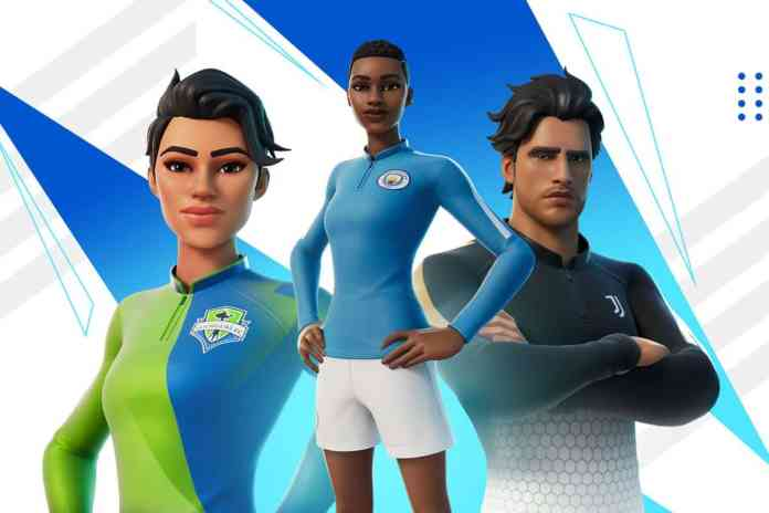 The new Fortnite skins feature big football teams.