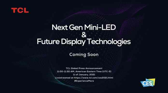 TCL to showcase next-gen Mini-LED technology in the upcoming CES 2021__TechnoSports.co.in