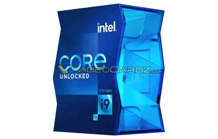 11th Gen Intel Core i9 series packaging leaked before launch