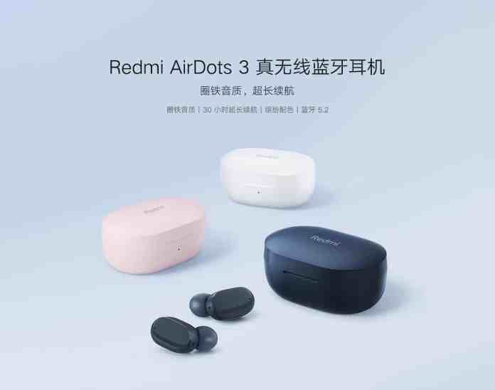 Redmi AirDots 3 with up to 30 hours battery life launched for 199 yuan