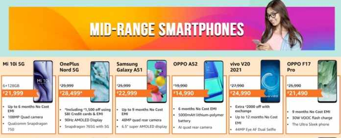 Amazon Fab Phone Fest: Offers and Discounts on Mid-Range smartphones