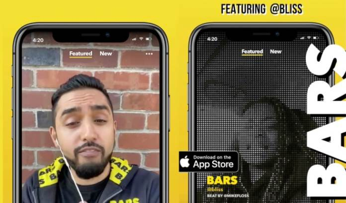 Bars: An app by Facebook to rap over beats
