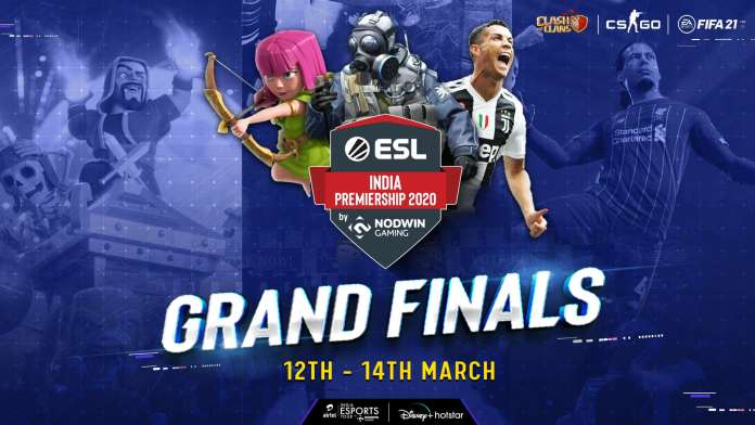 Grand Finale of the Winter Season of NODWIN Gaming's ESL India Premiership to Stream on Disney+Hotstar from March 12-14, 2021