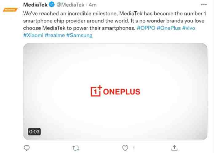 OnePlus smartphone tipped to launch a with Dimensity 1200