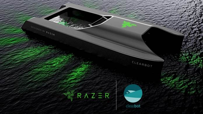 Razer x Clearbot developed a Solar-Powered Ocean-Cleaning Robot