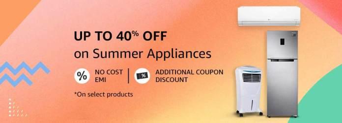 Amazon India announces '2021 Summer Appliances Carnival'