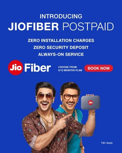 JioFiber launches new postpaid plans with no upfront entry cost