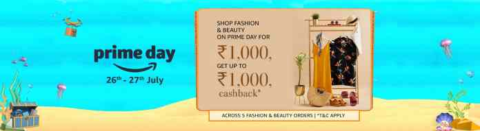 Amazon India brings a new Shop for Rs. 1000, get up to Rs. 1000 back offer