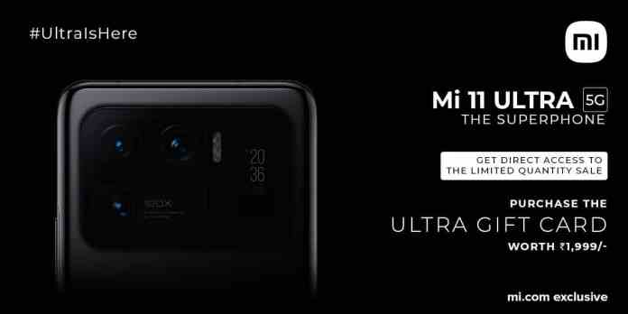 Xiaomi Mi 11 Ultra is going on sale in India   Register Here