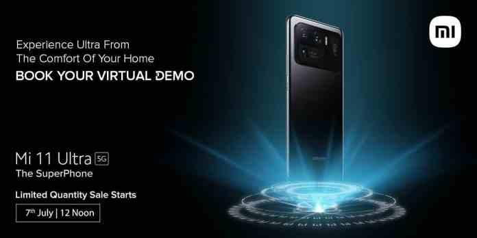 Mi 11 Ultra 5G Limited Quantity Superfan Sale starts 7th July