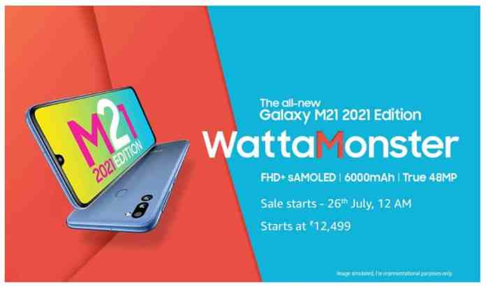 Samsung Galaxy M21 2021 Edition launched in India
