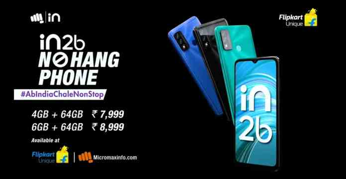 Micromax launches IN 2b – 'NO HANG PHONE' launched in India at Rs.7,999