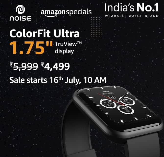 Noise ColorFit Ultra - First Sale_TechnoSports.co.in