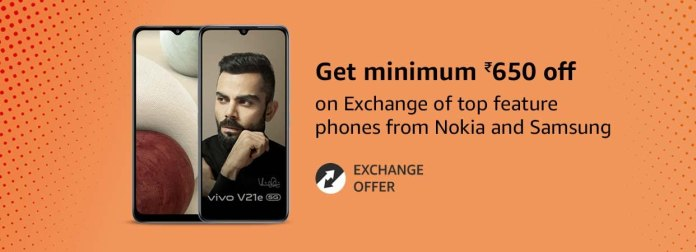 You can now exchange a feature phone on Amazon India and get a minimum of ₹650 off