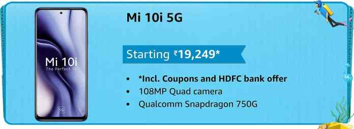 Mi 10i 5G is now available at only ₹19,249 on the Amazon Prime Day