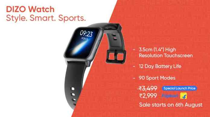 DIZO, from Realme TechLife, Unveils its First Smartwatch - DIZO Watch; An Extension to your Style and Sports Needs!
