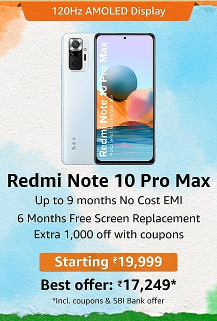 How to get Redmi Note 10 Pro Max for just ₹17,249 on Amazon Great Freedom Festival?
