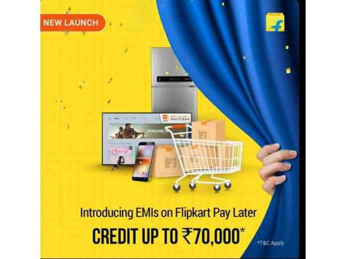Flipkart added EMI option on Flipkart Pay Later