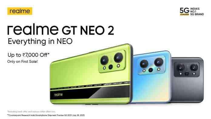 Realme launches the Realme GT Neo 2 in India