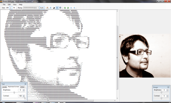 ASCGEN convert your photos to text or ASCII art