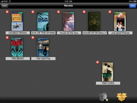 Accessing the Library with free Comic and PDF reader app for iPad Bookman