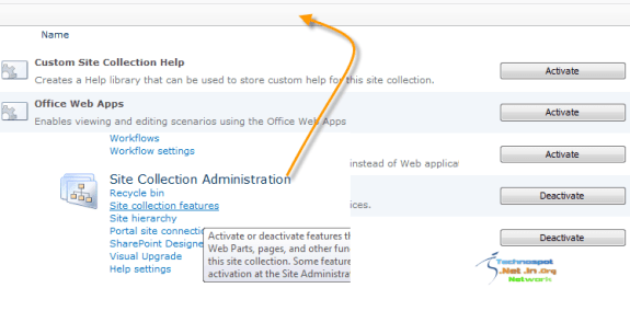 Activate Office Web Apps Feature in Site Collection