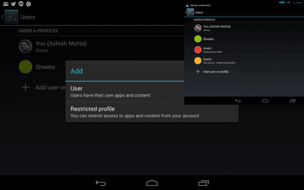 Add Restrcited Account in Android 4.3
