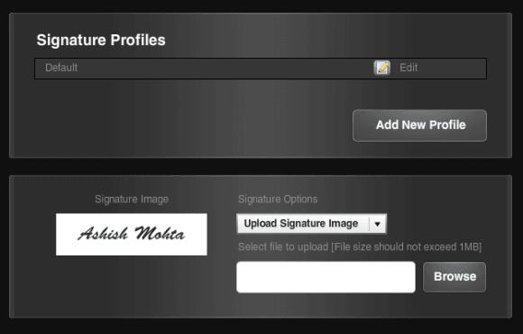 Adobe esignature profile