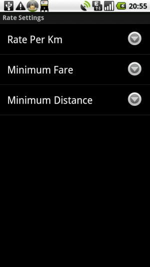 Android app to Save you from being overcharged by the taxi and Auto rickshaw driver Settings