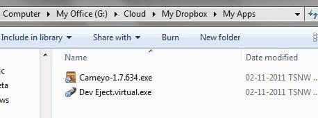 Cameyo in Dropbox