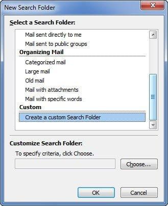 Custom Search Folder