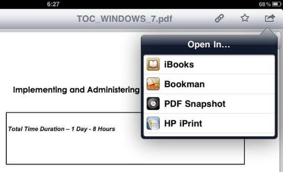 Download PDF to iBooks