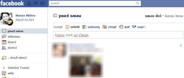 Flip your Facebook homepage upside down