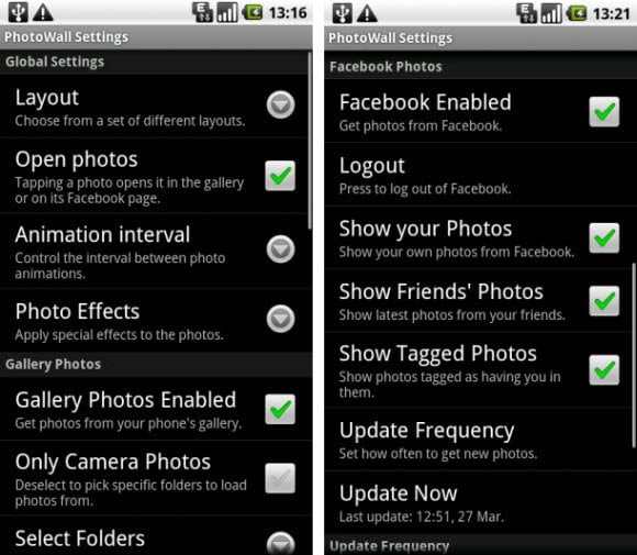 Free Android App to Use Facebook Photos as your Live Wallpaper
