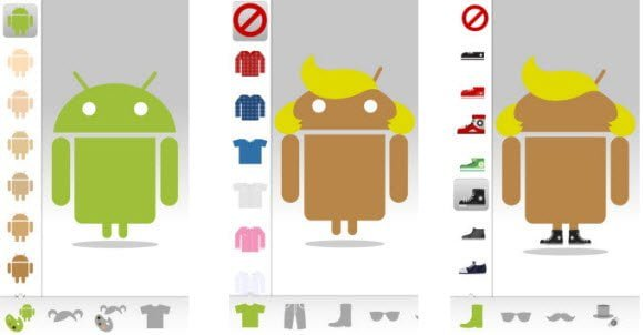 Free Android app to Create your Own Avatar which is lookalike of official Android Mascot