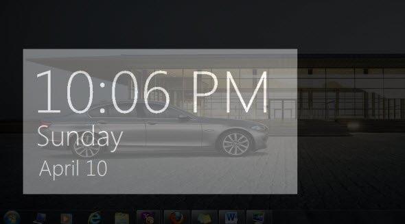 Free Download Windows 8 like Clock Screensaver
