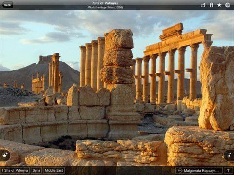 Free iPad iPhone and iPod touch app for virtual visit to UNESCO World Heritage Sites