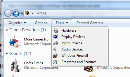 Games hardware and settings