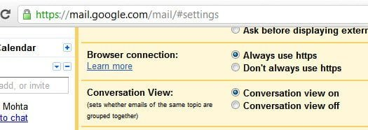 Gmail Enable HTTPS